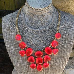 NWT kate spade coral stones bib necklace